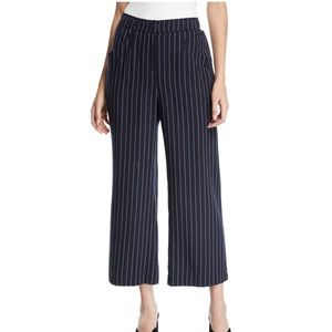 NWT Eileen Fisher Indigo Woven Grain Stripe Pants